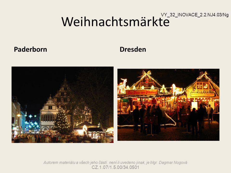 Weihnachtsmärkte Paderborn Dresden VY_32_INOVACE_2.2.NJ4.03/Ng