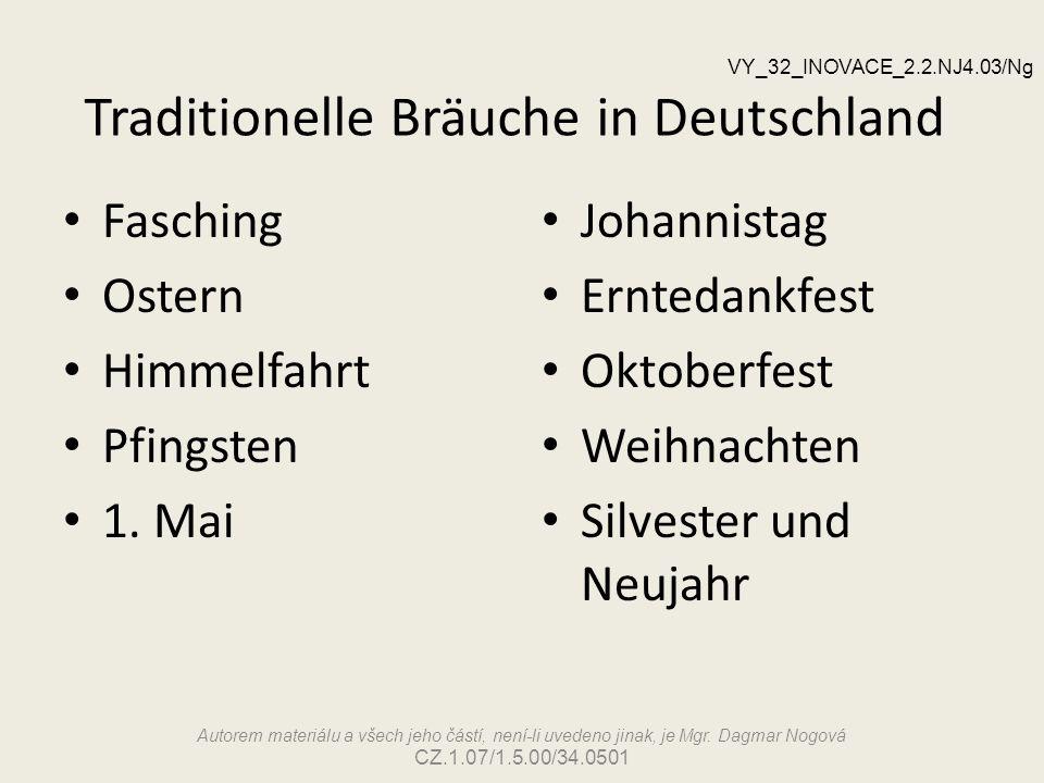 Traditionelle Bräuche in Deutschland