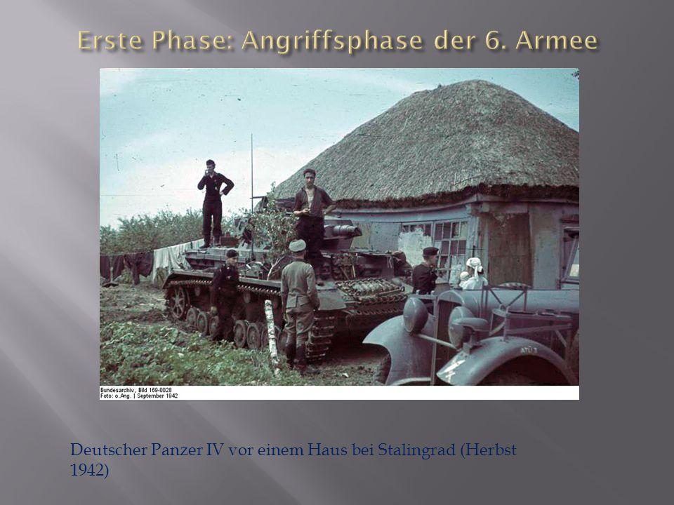 Erste Phase: Angriffsphase der 6. Armee