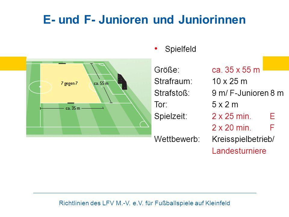 E- und F- Junioren und Juniorinnen