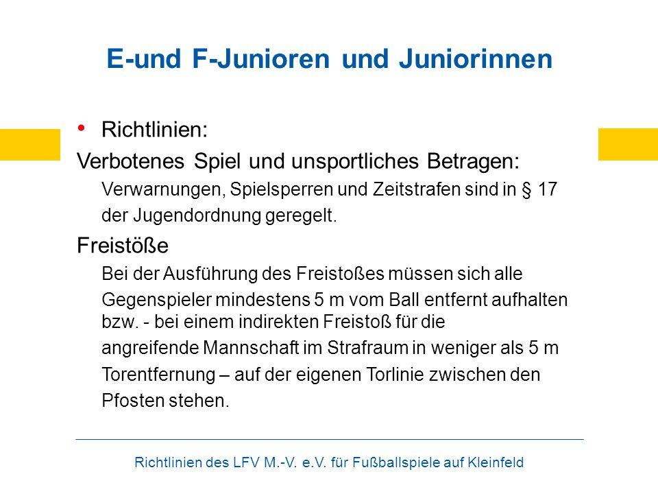E-und F-Junioren und Juniorinnen