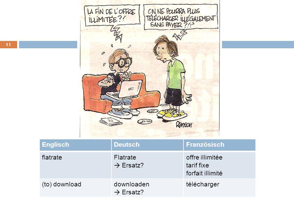 Englisch Deutsch. Französisch. flatrate. Flatrate. offre. illimitée. à. Ersatz tarif. fixe.