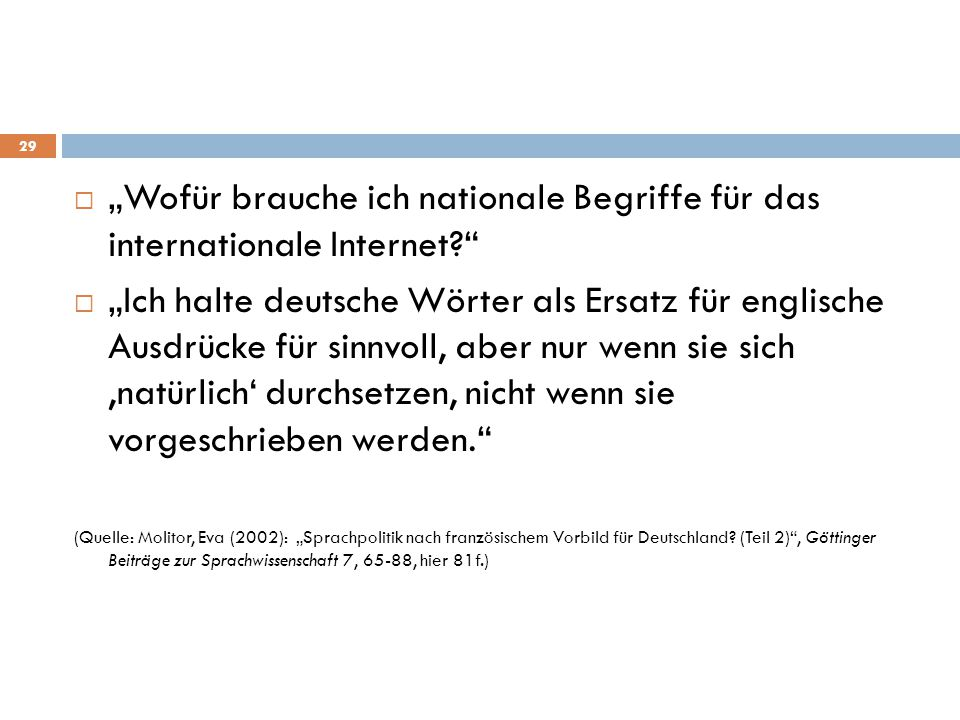 """""""Wofür brauche ich nationale Begriffe für das internationale Internet"""