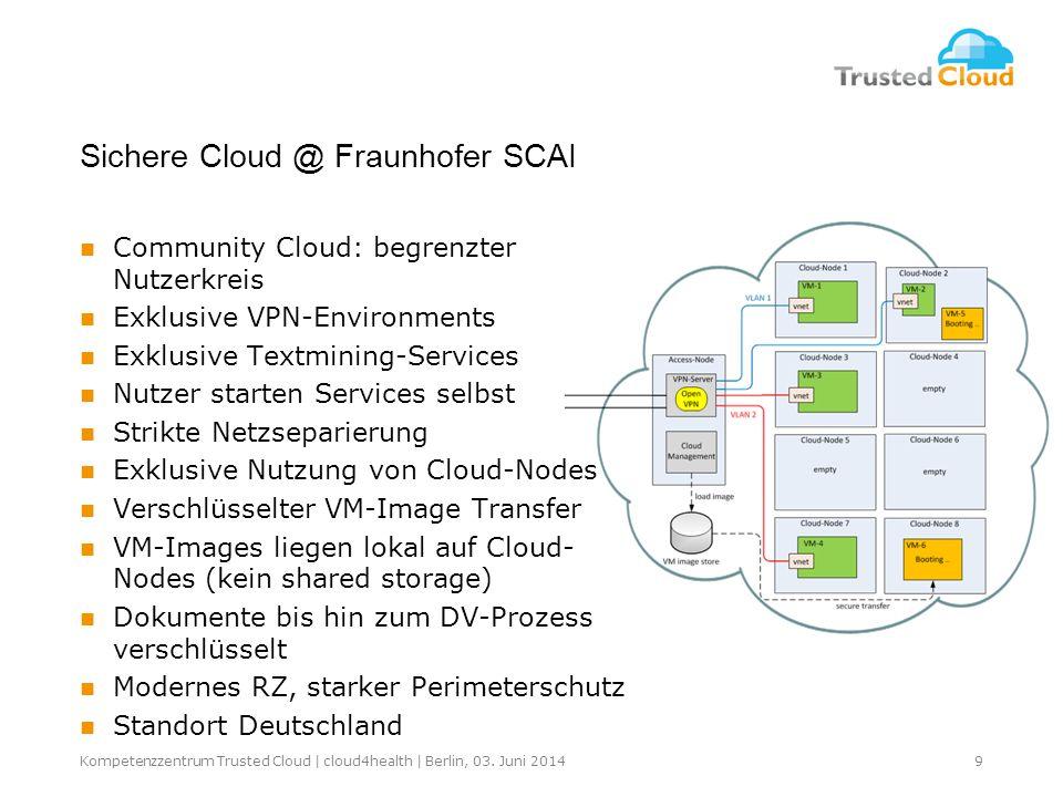 Sichere Cloud @ Fraunhofer SCAI