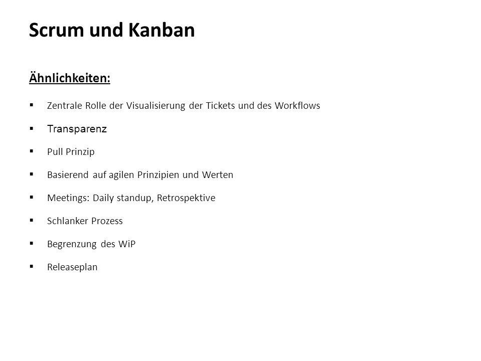 Scrum und Kanban Ähnlichkeiten: