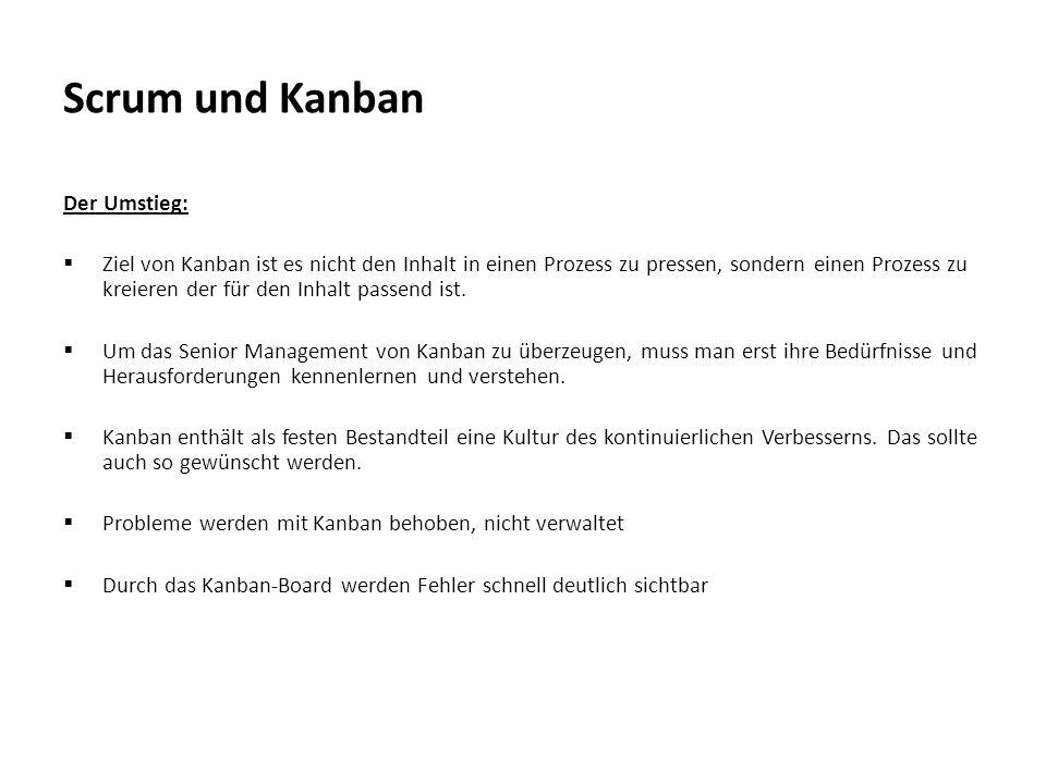 Scrum und Kanban Der Umstieg: