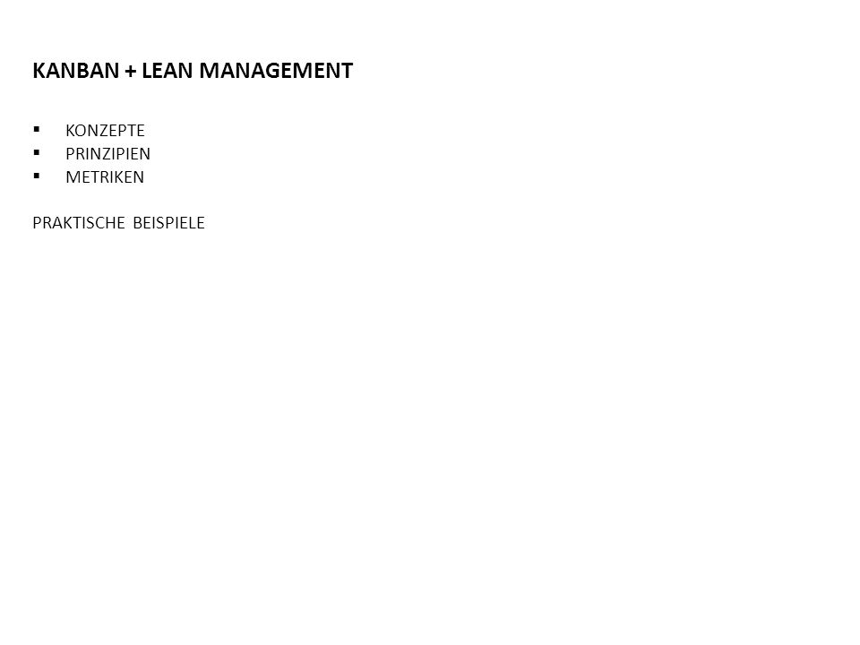 KANBAN + LEAN MANAGEMENT