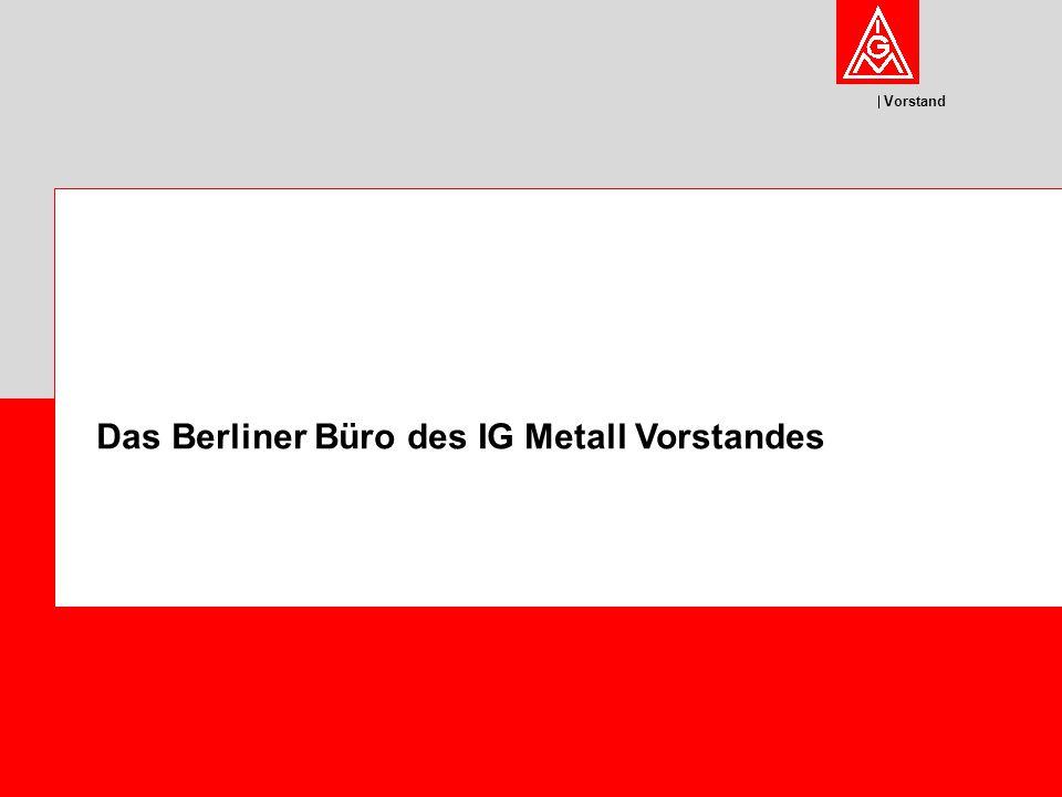 Das Berliner Büro des IG Metall Vorstandes