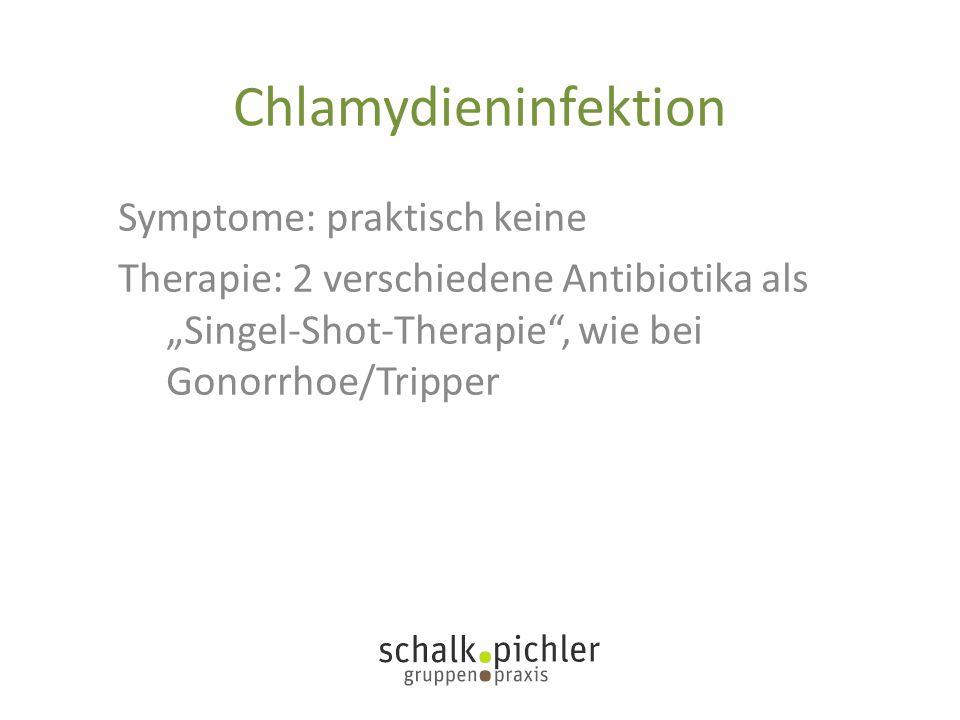 Chlamydieninfektion Symptome: praktisch keine