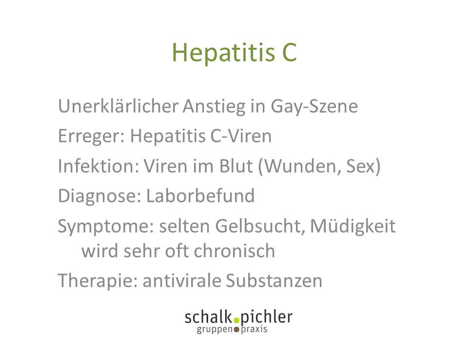 Hepatitis C Unerklärlicher Anstieg in Gay-Szene