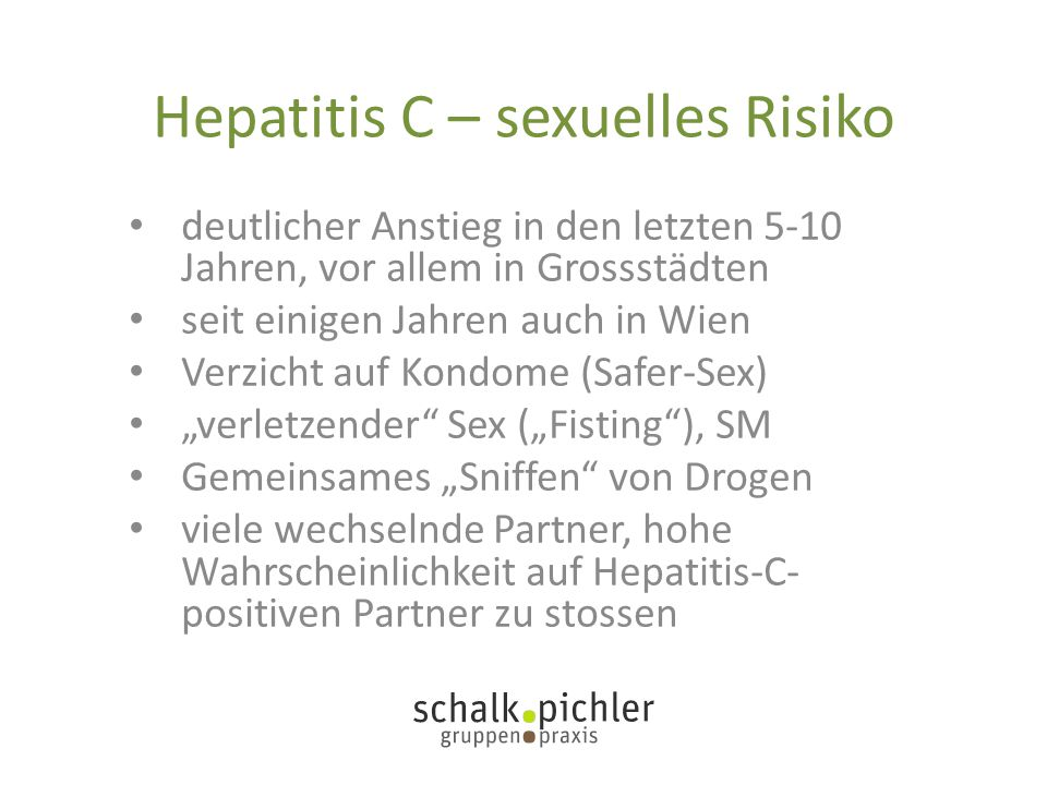 Hepatitis C – sexuelles Risiko