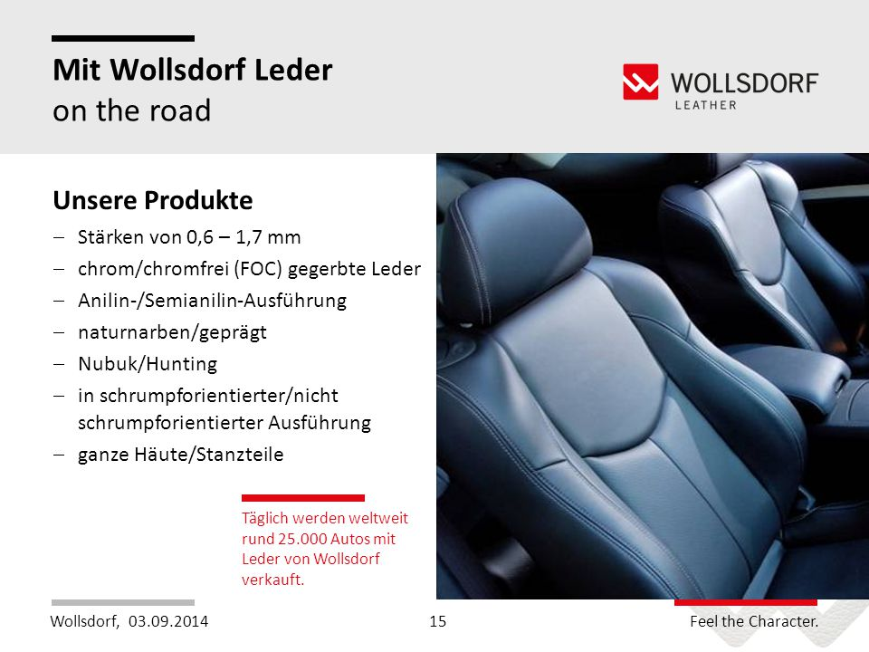 Mit Wollsdorf Leder on the road