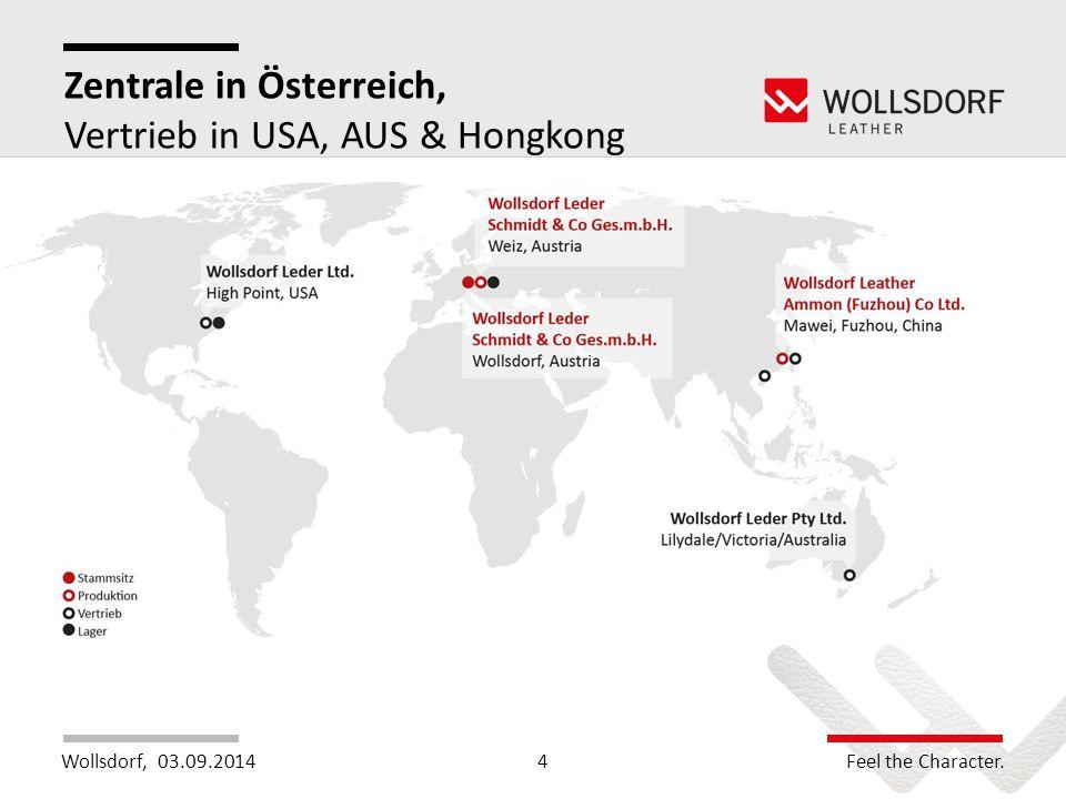 Zentrale in Österreich, Vertrieb in USA, AUS & Hongkong
