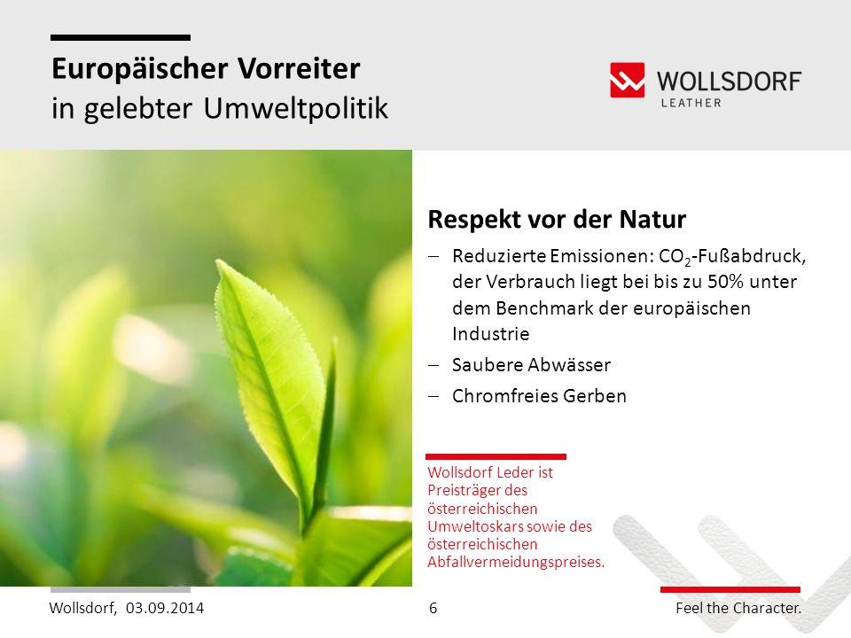 Europäischer Vorreiter in gelebter Umweltpolitik