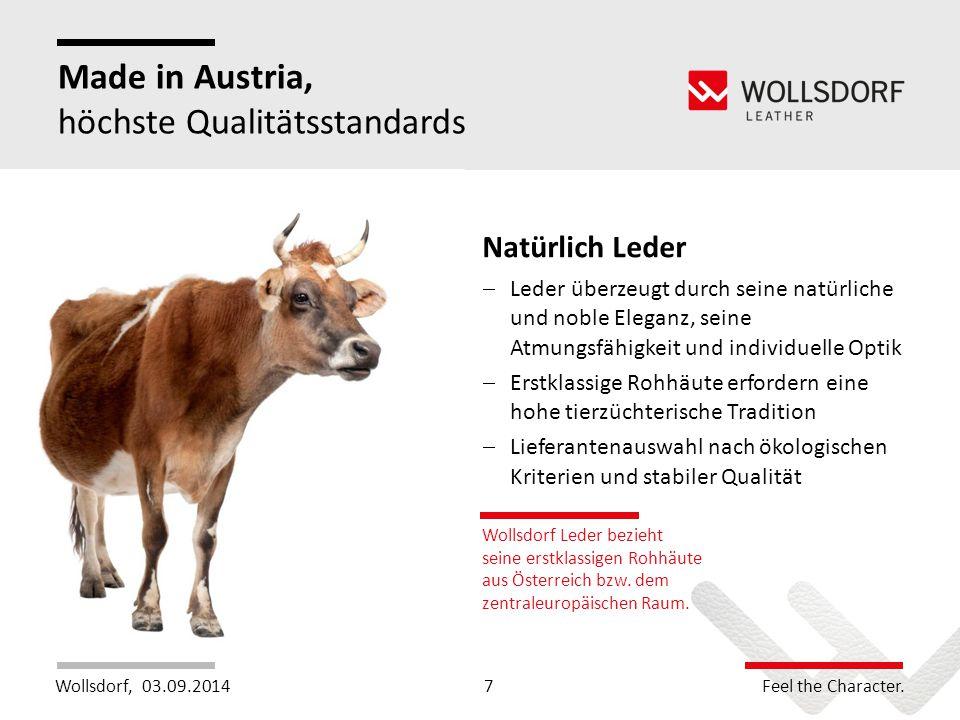 Made in Austria, höchste Qualitätsstandards