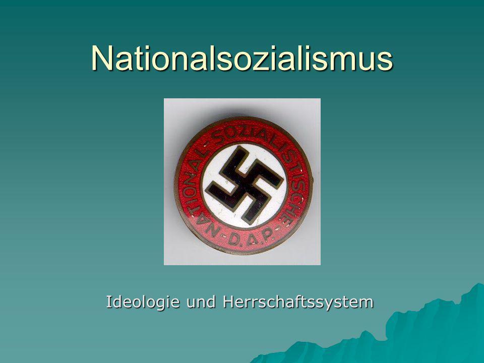 Ideologie und Herrschaftssystem