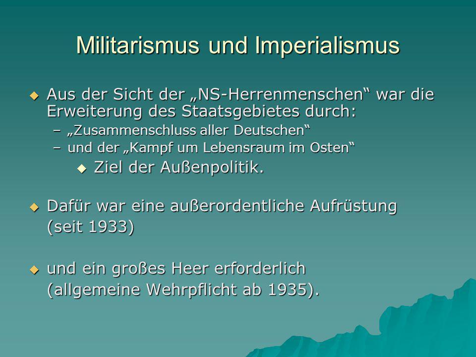 Militarismus und Imperialismus