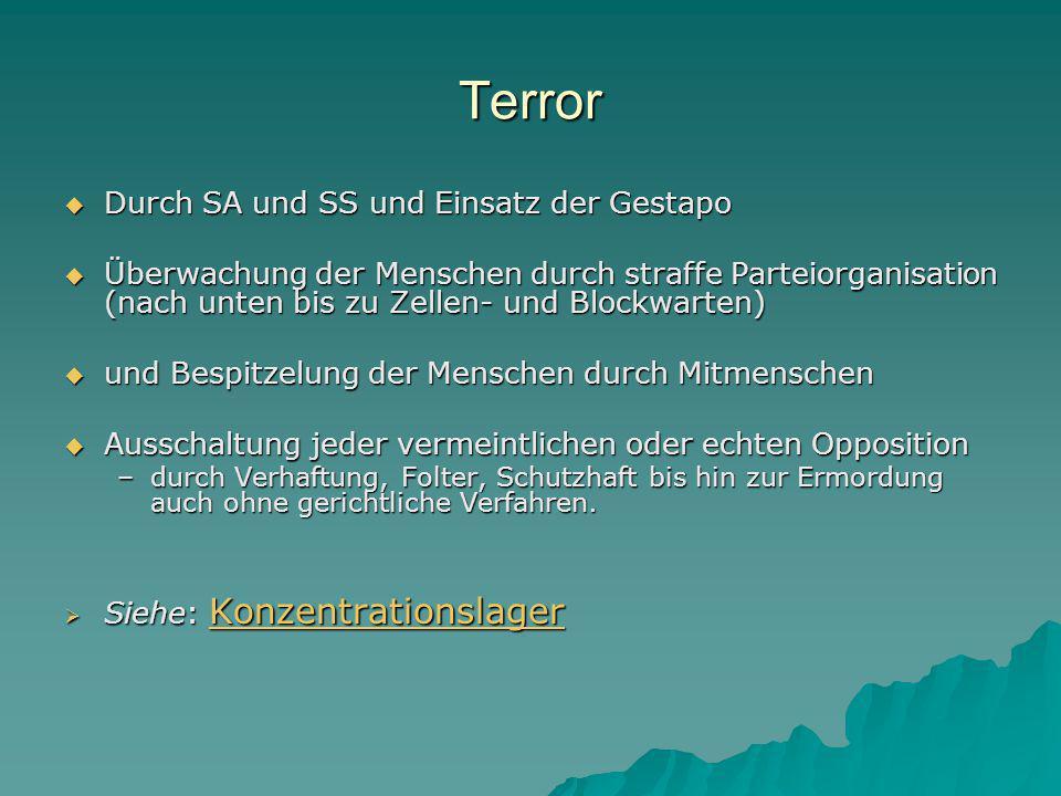 Terror Durch SA und SS und Einsatz der Gestapo