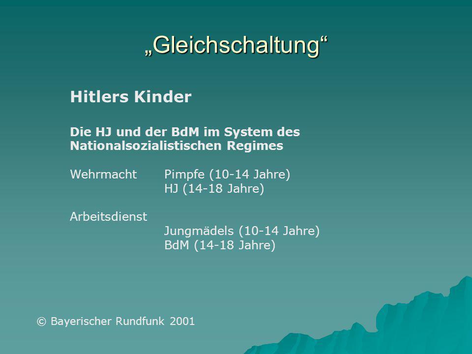 """""""Gleichschaltung Hitlers Kinder"""