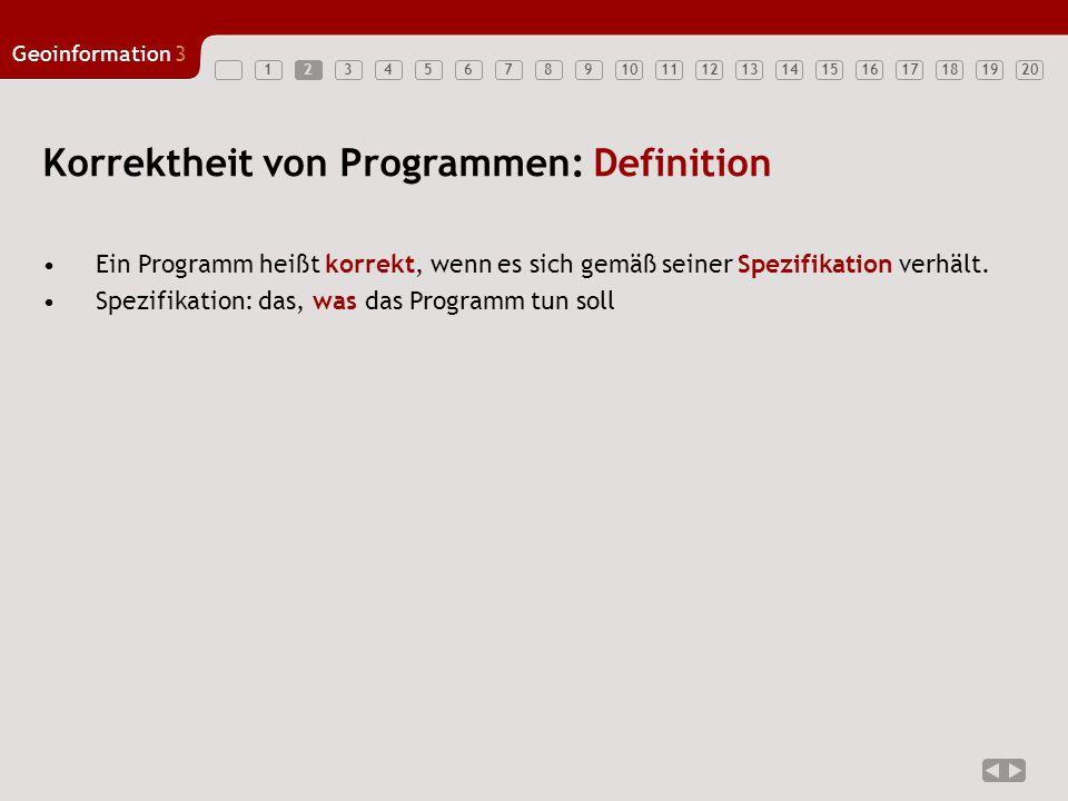 Korrektheit von Programmen: Definition