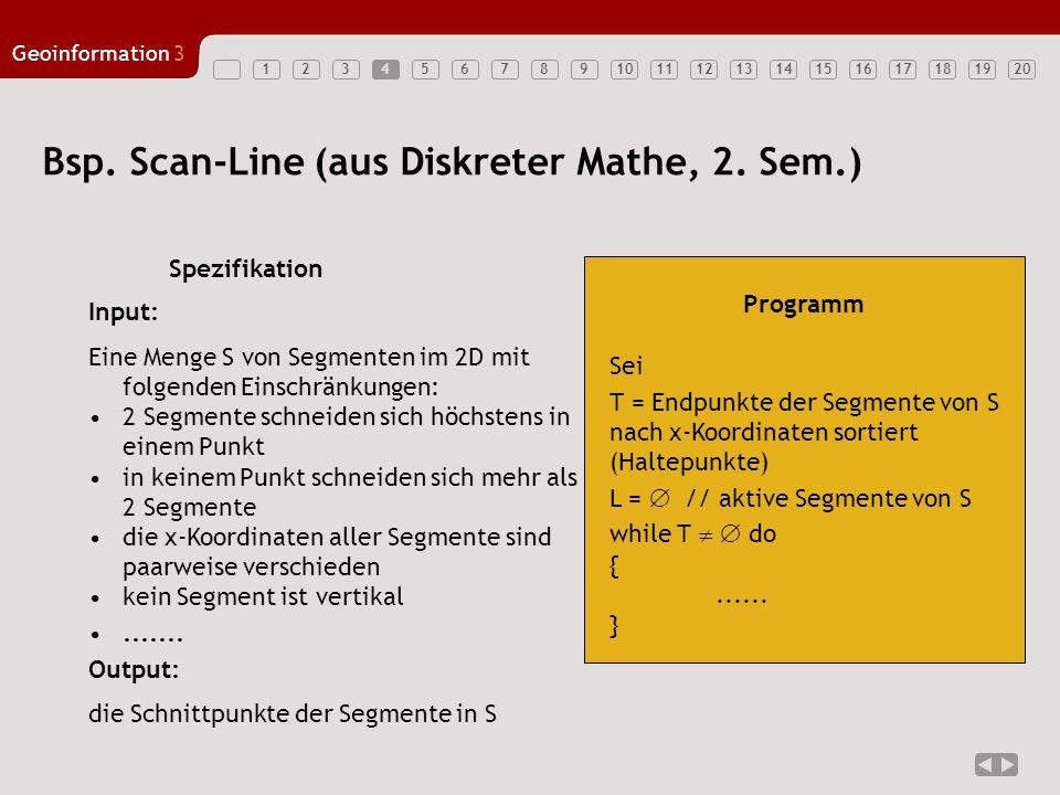 Bsp. Scan-Line (aus Diskreter Mathe, 2. Sem.)