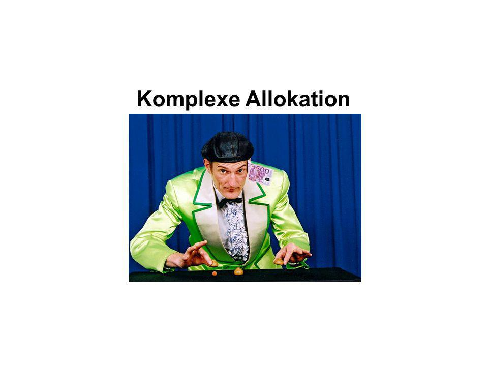 Komplexe Allokation