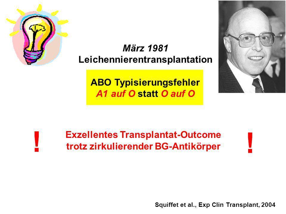 Leichennierentransplantation ABO Typisierungsfehler