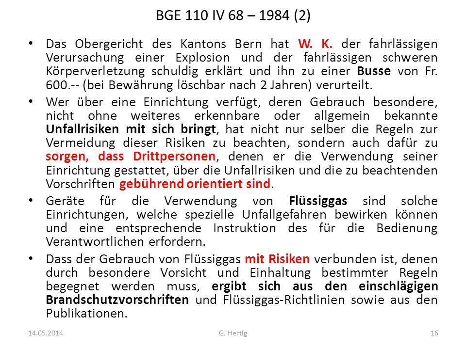 BGE 110 IV 68 – 1984 (2)