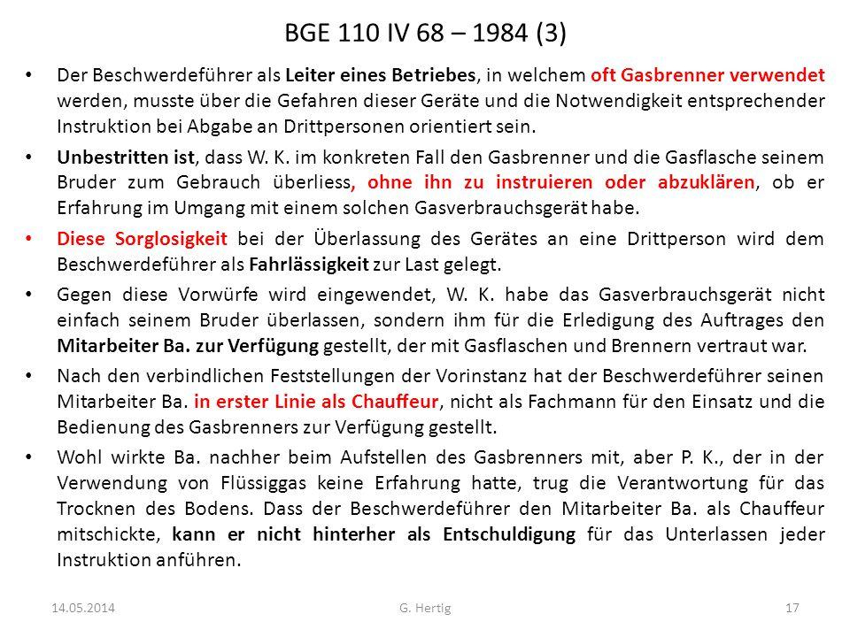 BGE 110 IV 68 – 1984 (3)