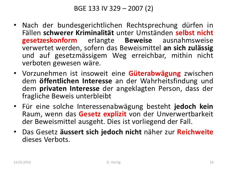 BGE 133 IV 329 – 2007 (2)