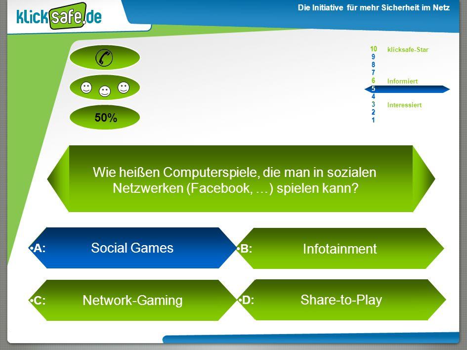 10 9. 8. 7. 6. 5. 4. 3. 2. 1. Wie heißen Computerspiele, die man in sozialen Netzwerken (Facebook, …) spielen kann