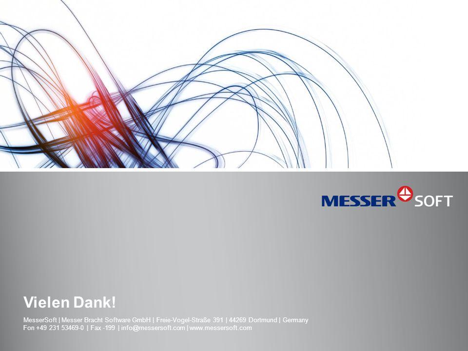 Vielen Dank! MesserSoft | Messer Bracht Software GmbH | Freie-Vogel-Straße 391 | 44269 Dortmund | Germany.