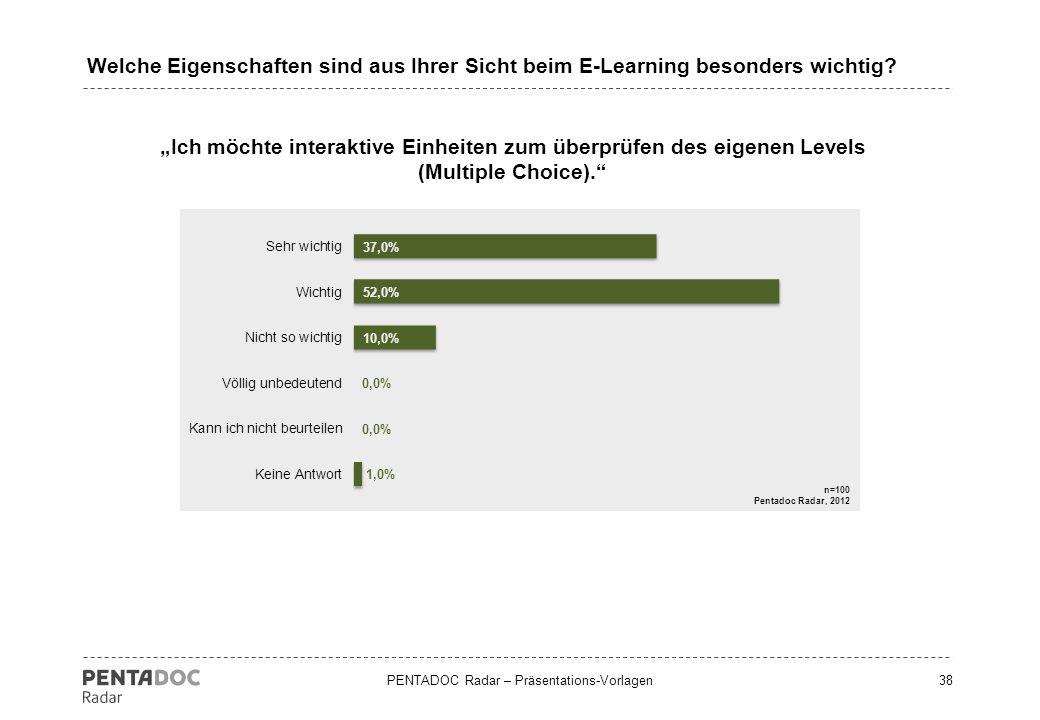 Welche Eigenschaften sind aus Ihrer Sicht beim E-Learning besonders wichtig