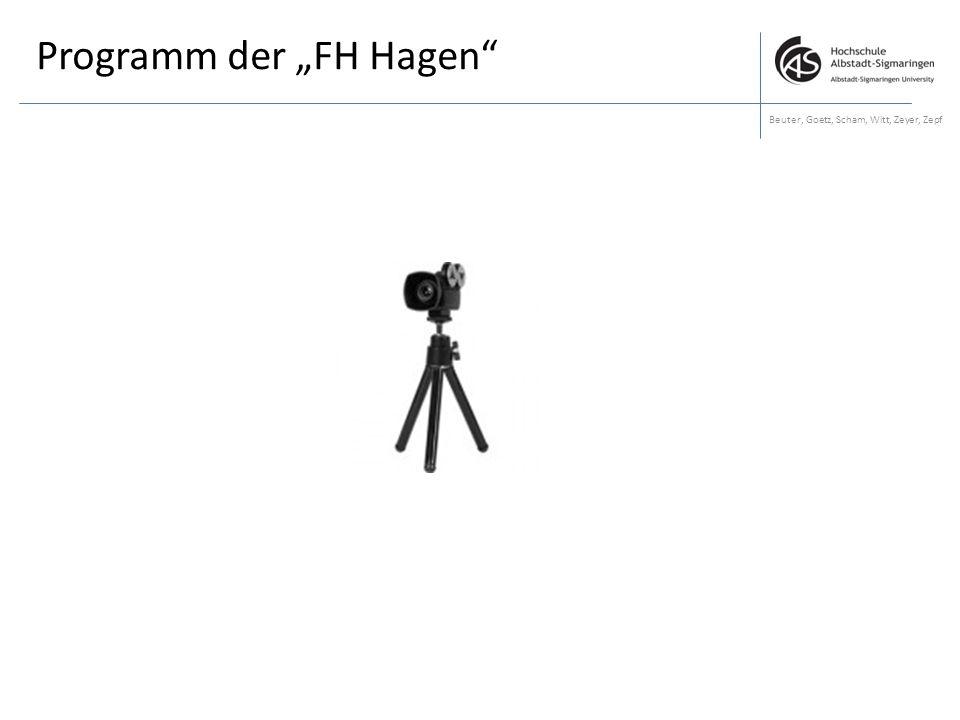 """Programm der """"FH Hagen"""
