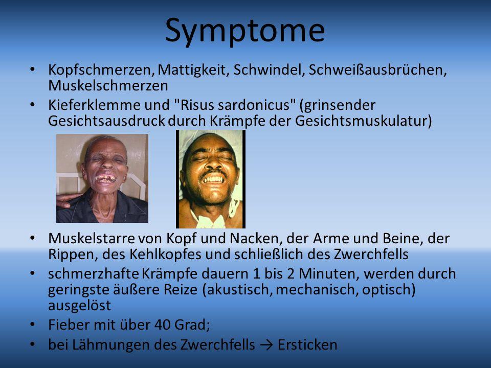 Symptome Kopfschmerzen, Mattigkeit, Schwindel, Schweißausbrüchen, Muskelschmerzen.