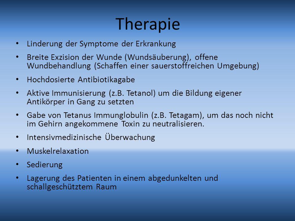 Therapie Linderung der Symptome der Erkrankung