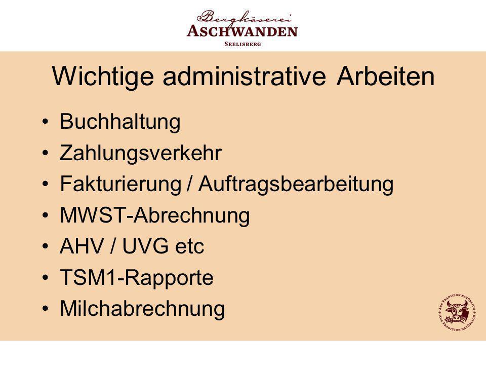 Wichtige administrative Arbeiten