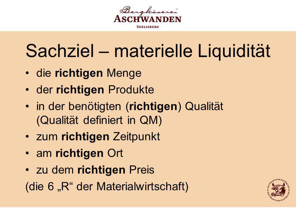 Sachziel – materielle Liquidität