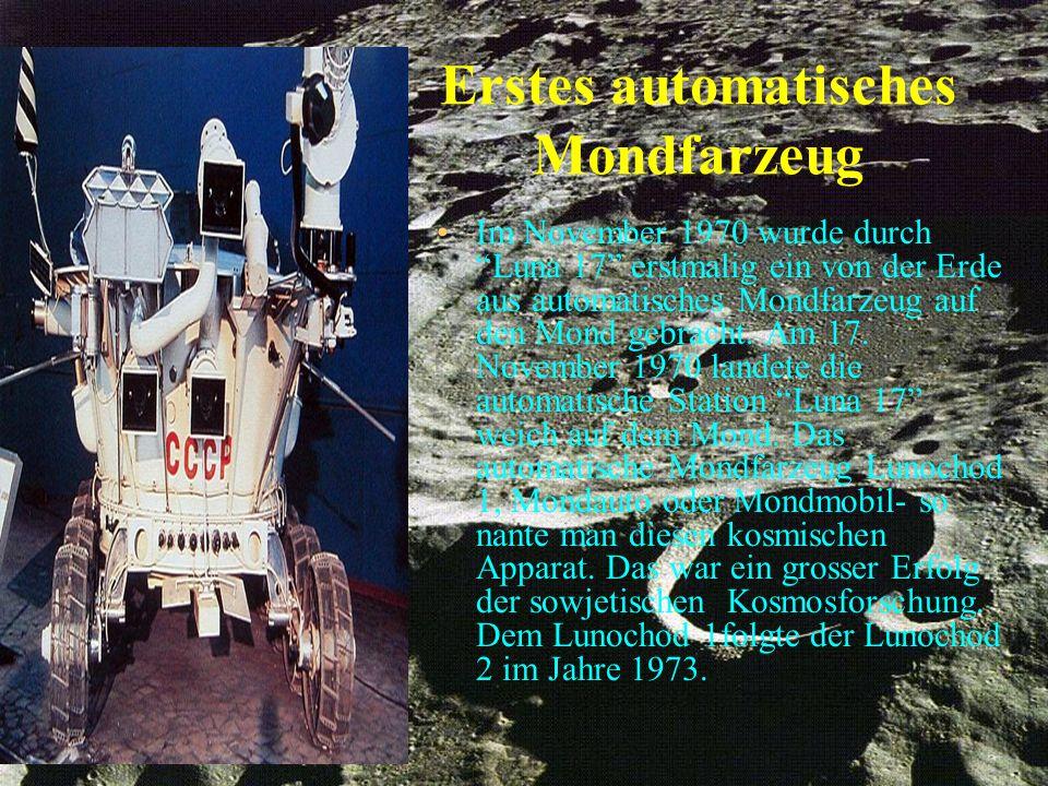 Erstes automatisches Mondfarzeug