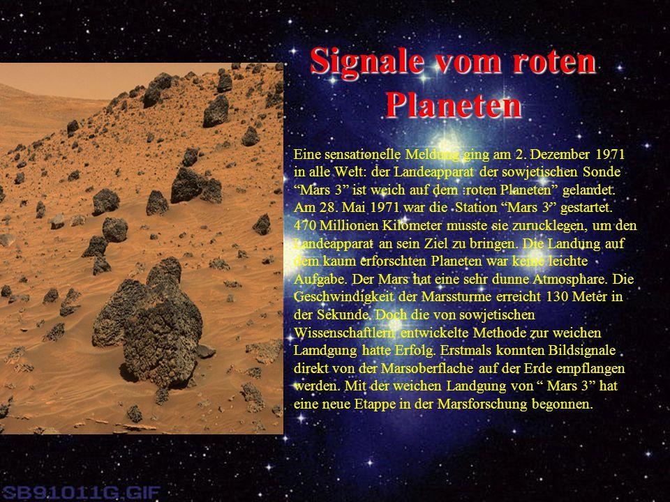 Signale vom roten Planeten