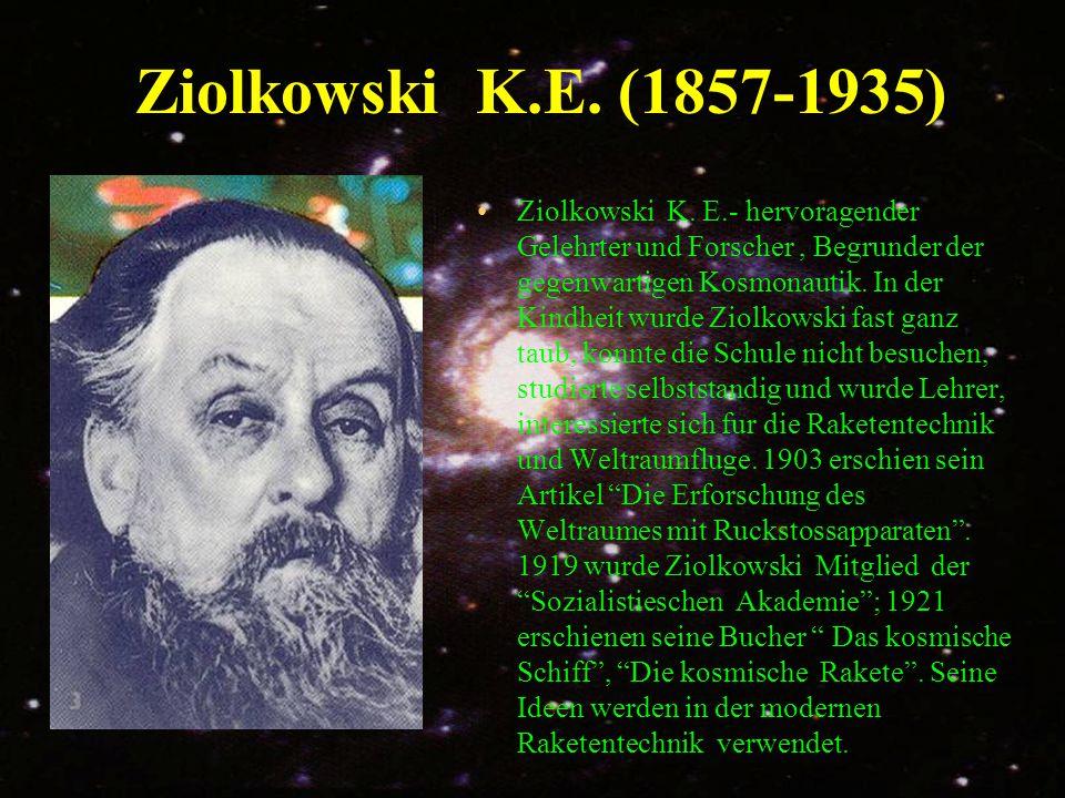 Ziolkowski K.E. (1857-1935)