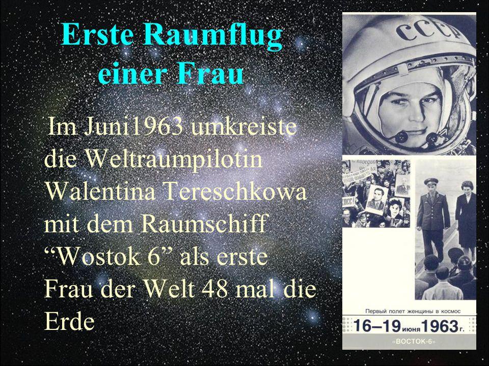 Erste Raumflug einer Frau