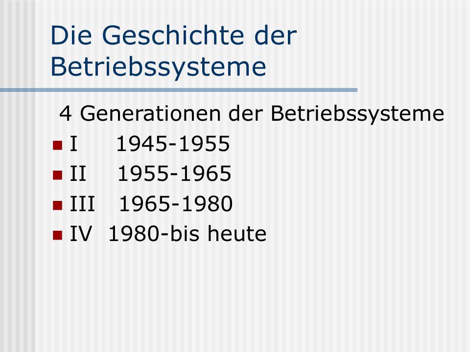 Die Geschichte der Betriebssysteme