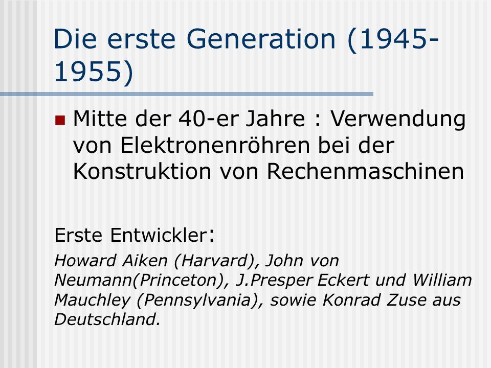 Die erste Generation (1945-1955)