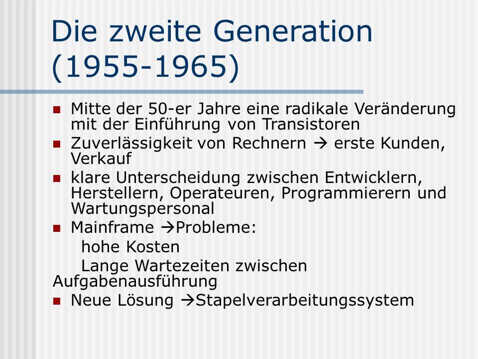 Die zweite Generation (1955-1965)
