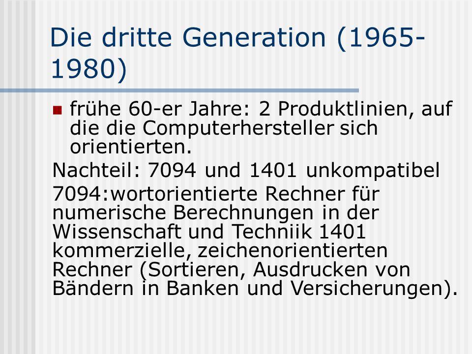 Die dritte Generation (1965-1980)