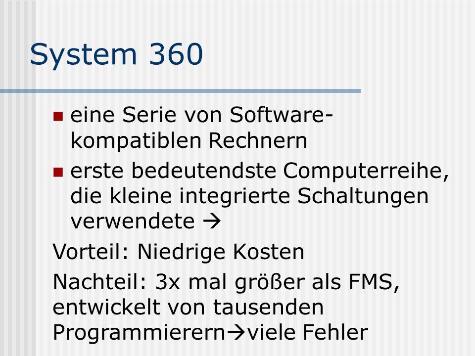 System 360 eine Serie von Software-kompatiblen Rechnern