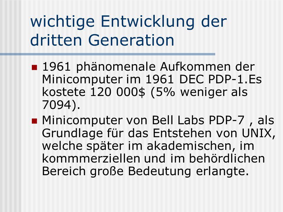 wichtige Entwicklung der dritten Generation