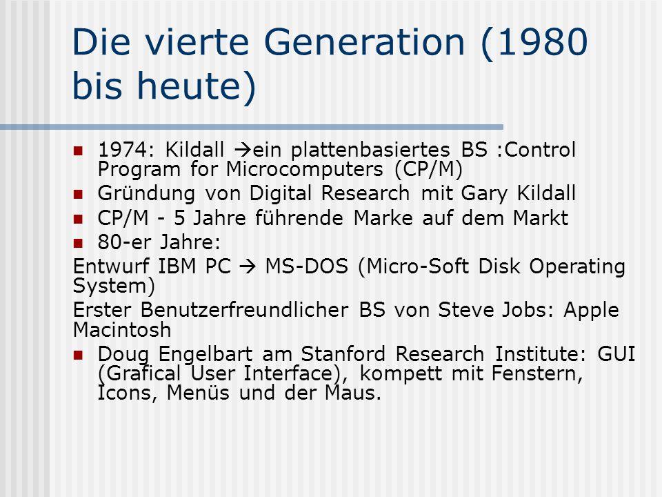 Die vierte Generation (1980 bis heute)