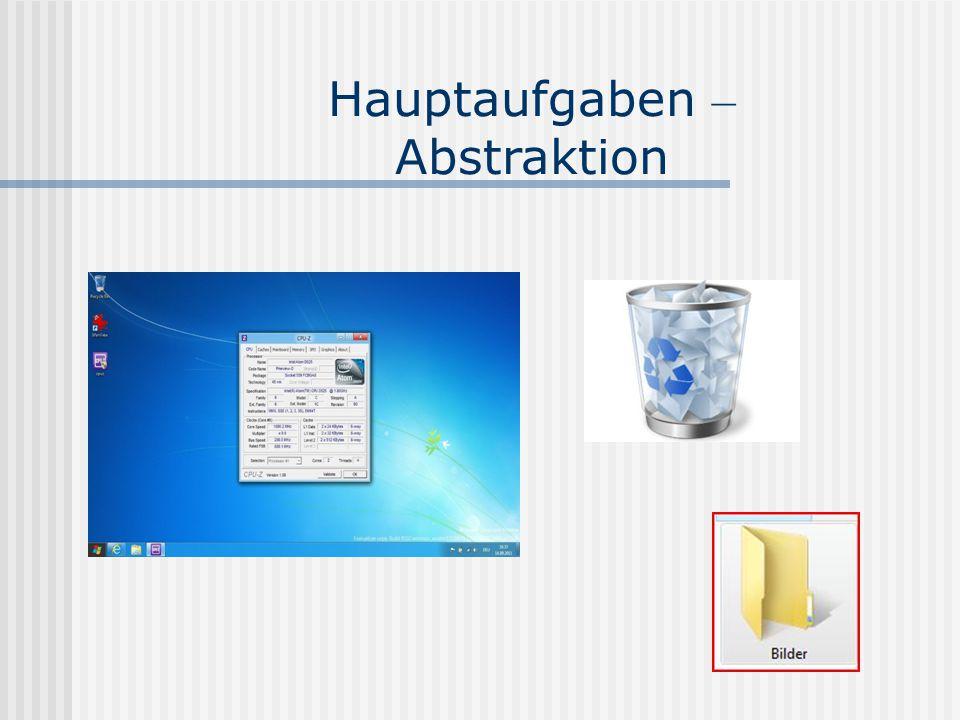 Hauptaufgaben – Abstraktion